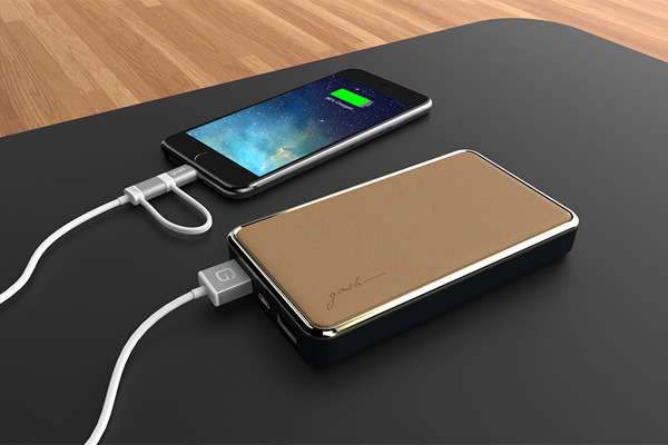 Gosh! Brand creates powerbanks with particular aplomb, as shown by its Joule Haute Powerbank (8,000 mAh) in Tan.
