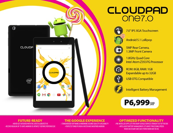 CloudPad One 7.0 Product Sheet