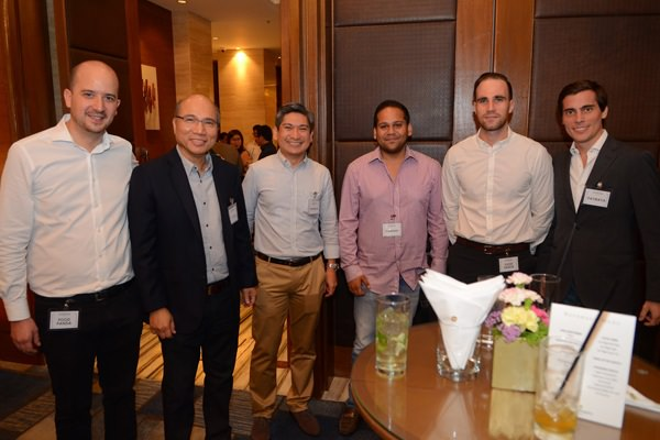 (L-R) Mauro  Cocchieri (Co-founder & CEO, Foodpanda), Orlando B. Vea (President and CEO, Voyager Innovations) , Kenneth Palacios (Department Head, International Business, Smart e-Money Inc.), Subir Lohani (Managing Director, Carmudi), Thomas Mossner (Business Development Manager, ClickBus), Paolo Azzola (Co-COO, Smart e-Money Inc.)