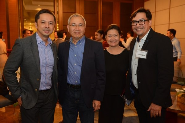 Stephen Misa (VP and Group Head, Voyager Innovations), Ramon Isberto (Group Head of Public Affairs, PLDT and Smart), Theresa Busmente (Affiliate Partner Manager, Agoda), George G. Gordon (AVP/Center Head, Voyager Innovations)