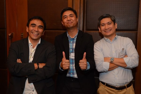 Benjie S. Fernandez (Chief Operating Officer, Voyager Innovations), Mar Lazaro (Consultant, Domestic Business, Smart e-Money Inc.), Kenneth Palacios (Department head, International Business, Smart e-Money Inc.)