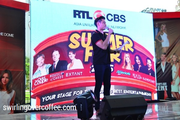 Fabio Ide hosting the RTL CBS Entertainment Summer Fair