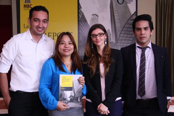 Photo above shows (L-R) Ardent Communications Business Development Manager Mark Mallo, Ardent Communications Managing Director Ana Pista, Oxford Business Group Country Director Rosa Piro and Oxford Business Group Editorial Manager Rodrigo Diaz during the launch of The Report.