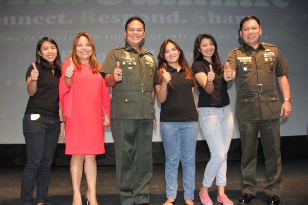 Thumbs up for ArdentComm: Retired AFP Chief of Staff Gregorio P. Catapang Jr. (third from left) and AFP Spokesperson Brig. Gen. Joselito Kakilala (rightmost) commend the ArdentComm team, led by Managing Director Ana Pista (second from left) and assisted by Account Executive Fate Mora, Business Development Assistant Athenna Ordoña and Account Executive Glydel Lumauan.