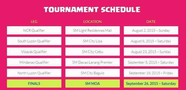 Clash of Clans tournament Locations