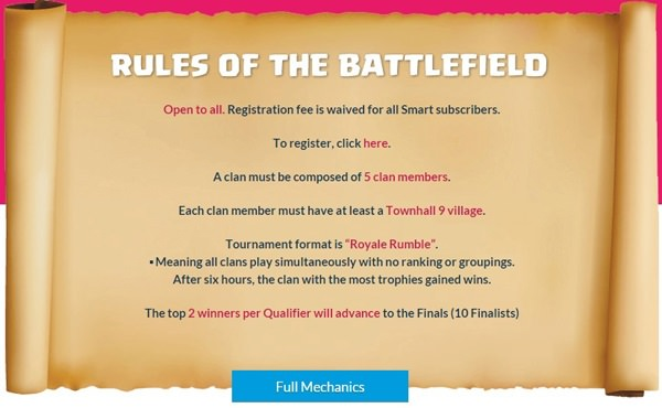 Clash of Clans tournament Mechanics