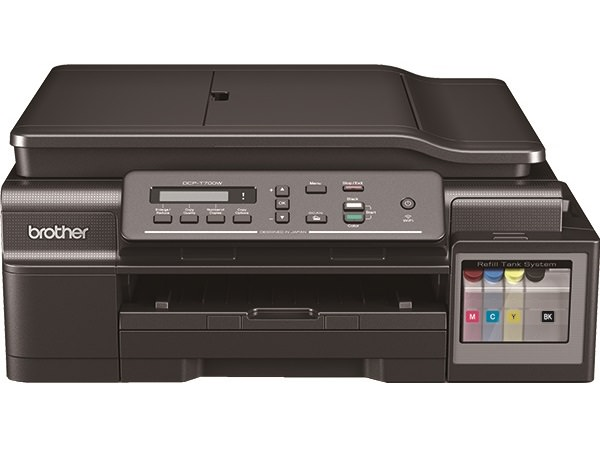 Brother's Refill Tank System MFCs like the DCP-T700W is ideal for personal users, or business users printing from small office home office (SOHO) who seek bigger savings. The DCP-T700W has an ADF which can scan and copy legal documents.