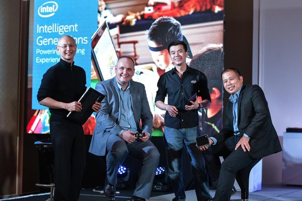 L - R: Wowie Wong - Intel Philippines Marketing Development Manager, Calum Chisholm - Intel Philippines Country Manager, Jason Ty - Intel Philippines Channel Platform Manager, Randy Kanapi, Intel Philippines Marketing Manager