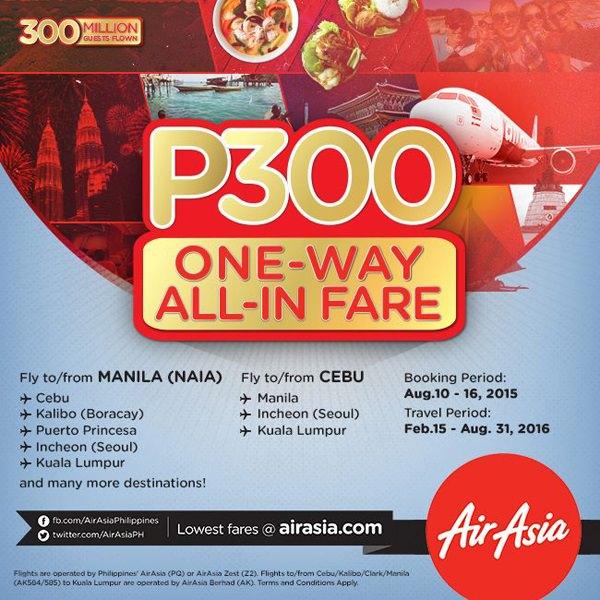 AirAsia 300 All In Fares