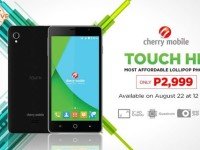 Lazada.com.ph and Cherry Mobile offers the Most Affordable Lollipop Smartphone on August 22, 12NN