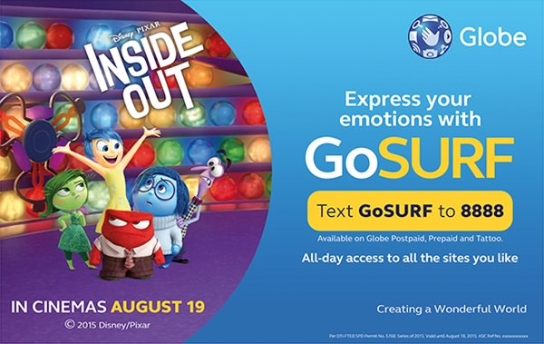 Globe Disney Pixar Inside Out Raffle Promo