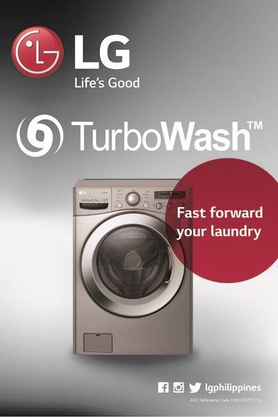 LG TurboWash Washing Machine Poster