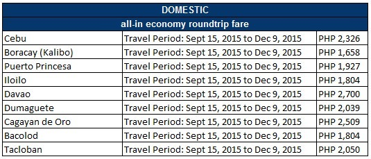 PAL Domestic Economy Sale