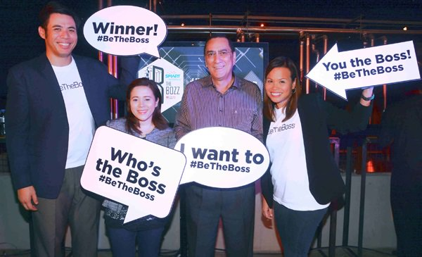 (from left): PLDT SME Community Engagement Services Head Gabby Cui, PLDT SME Wireless Marketing Head and AVP Nephele V. Denosta, PLDT FVP and Head of Enterprise, International and Carrier Business Revenue and Operations Group Cesar Enriquez and PLDT FVP and Head of SME Business Kat Luna-Abelarde.