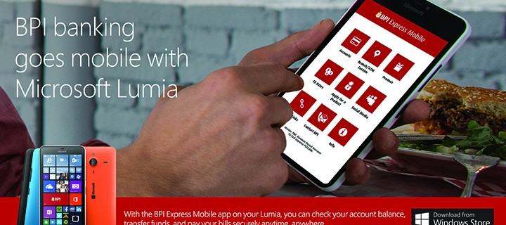 BPI Banking Goes Mobile with Microsoft Lumia