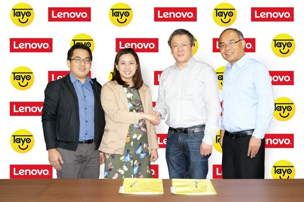 L-R James de Vera, Executive Director, TAYO Awards Foundation; Aika Robredo, President, TAYO Awards Foundation; Michael Ngan, Country General Manager, Lenovo Philippines; and Rollie Fabi, Co-chairman of the Board of Directors, TAYO Awards Foundation