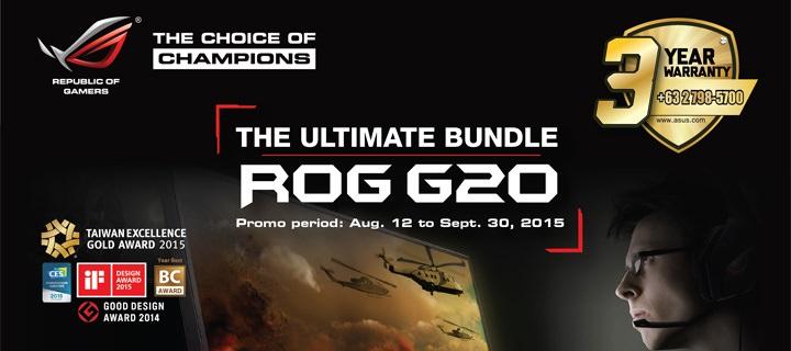 ASUS ROG G20, M32 and M52 Desktop bundle promo