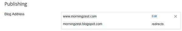 Attach blogger to domain 8