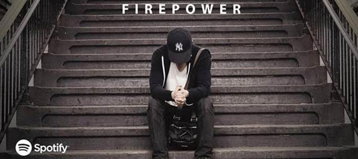 "Bamboo's latest hit, ""Firepower"", now on Spotify"