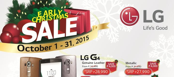 Celebrate Christmas Early with LG Smartphone Sale