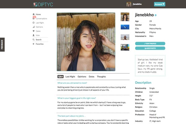 dating website for professionals DIPTYC.PH
