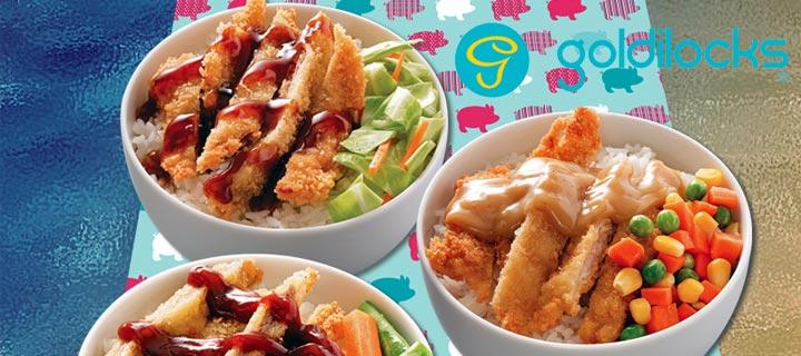 Goldilocks raises the level of rice toppings