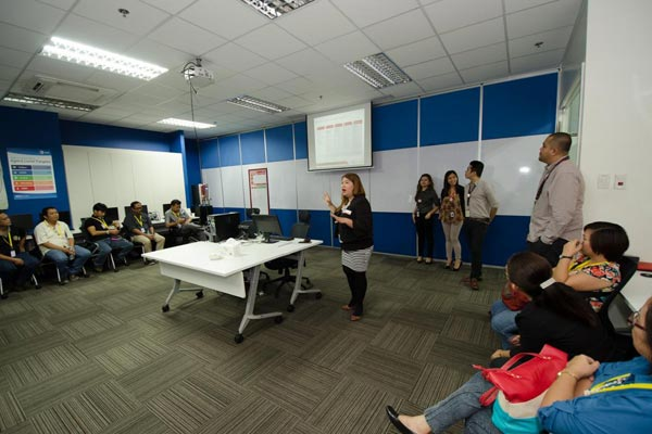 During the briefing and training from IBEX Global executives to the USeP teachers