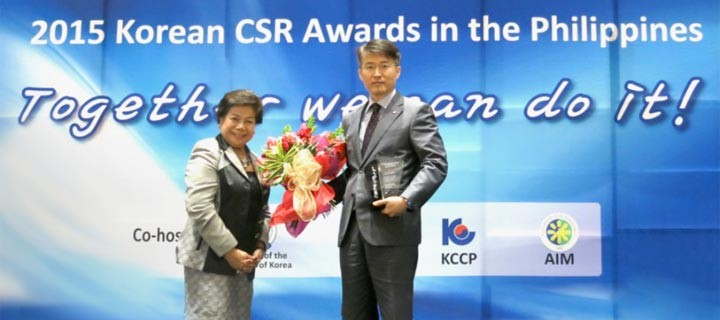 LG Electronics duly recognized in 2015 Korean CSR awards in PH