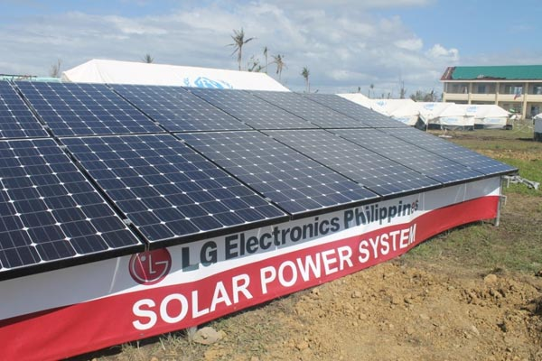 "In January 2014, LGEPH keeps true to their company's battle cry of ""Life is Good"" by installing LG Solar Panels to power up different areas in Tacloban in cooperation with the Department of Energy."