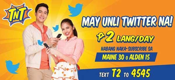 TNT launches 2-Peso Unli Twitter promo to celebrate Aldub fever