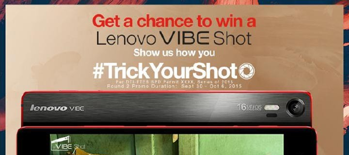 Win a Lenovo VIBE Shot by Showing How You #TrickYourShot