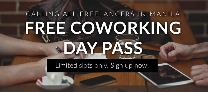 Work out of home with free co-working space day passes for Freelancer.com users