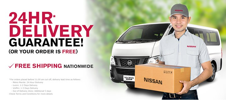 nissanparts.ph lets you view and buy genuine Nissan parts online; 24 hour free delivery within Metro Manila
