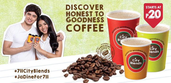 #JaDine as the new ambassadors for Honest-To-Goodness Coffee of 7-Eleven City Blends