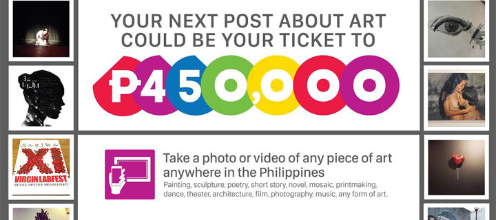 Your next post about art could win you P450,000 #ArtLotto