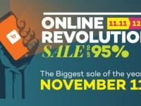 Don't miss the Lazada Online Revolution Sale from Nov 11 to Dec 12
