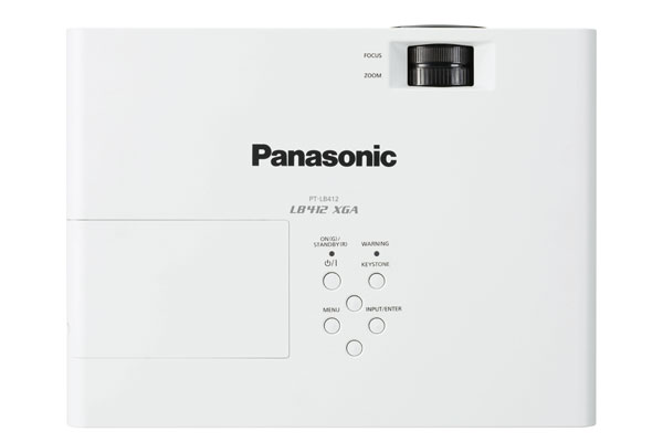 The Panasonic PT-LB412 series comes with an optional wireless dongle, which easily enables presentation projection from any smart device.