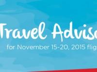Philippine Airlines travel advisory during APEC Summit in Manila, Philippines