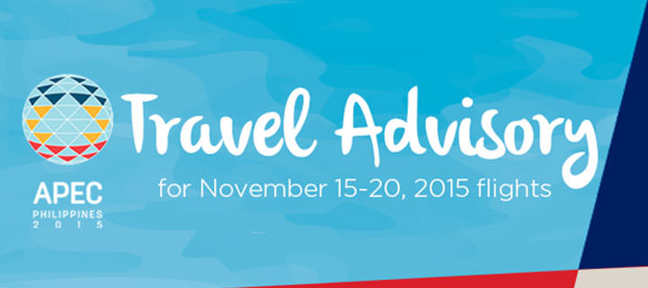 Philippine Airlines travel advisory during APEC Summit in Manila, Philippines