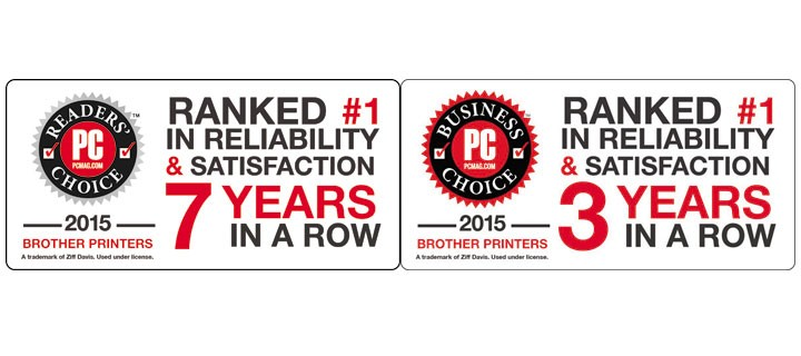 Brother wins 2015 PCMag's Readers' Choice Award and Business Choice Award