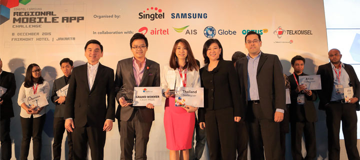 Socialgiver and OTTO win 2nd Singtel Group-Samsung Regional Mobile App Challenge