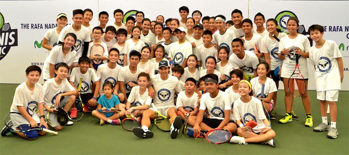 Globe powers Rafa Nadal Academy Tennis Clinic
