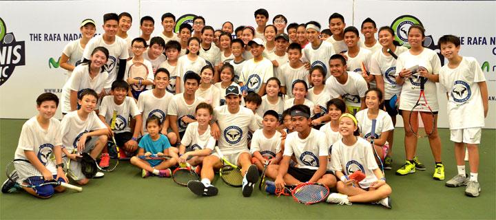 Globe powers Rafa Nadal Academy Tennis Clinic