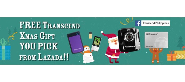 "Transcend Announces the ""Xmas Gift You Pick from LAZADA"" Event in Philippines"
