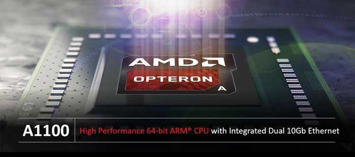 AMD and Key Industry Partners Welcome the AMD Opteron™ A1100 SoC to the 64-bit ARM Data Center Arena