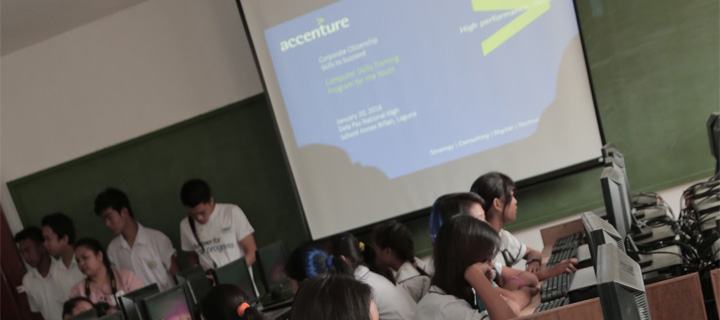 Accenture Donates Computers to Dela Paz National High School as Part of 30th Anniversary Celebration