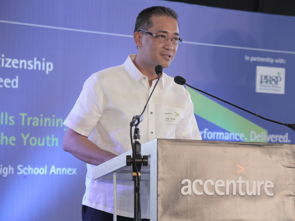 Lito Tayag, Accenture Country Managing Director
