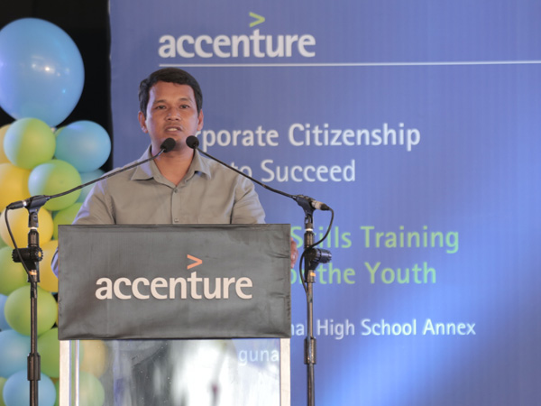 Ronald Bago, principal of Dela Paz National High School