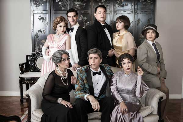 Mica Pineda, Hans Eckstein, Jeremy Domingo, Christine Flores, Natalie Everett, Jay Valencia Glorioso,, Paul Holme, and Pinky Amador headline Ken Ludwig's The Game's Afoot, a comedy-mystery launched by Repertory Philippines