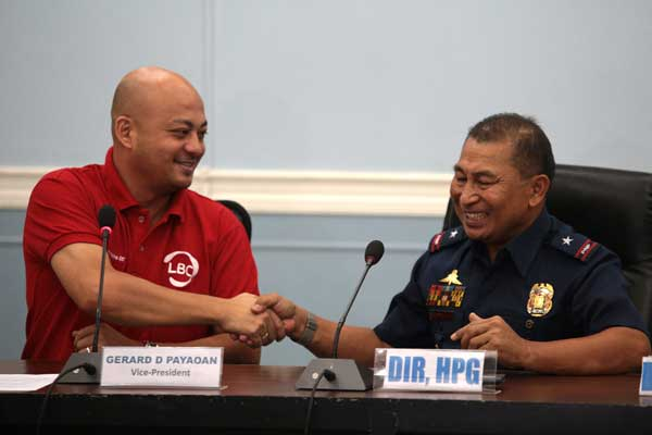 Left to right: GERARD PAYAOAN - VP Systems, Distribution & Delivery, LBC , GEN. ARNOLD GUNNACAO – Police Chief Superintendent, Highway Patrol Group Director, PNP
